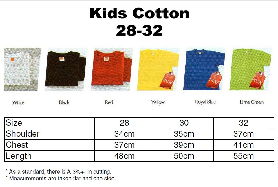 Kids Cotton Round Neck Tee