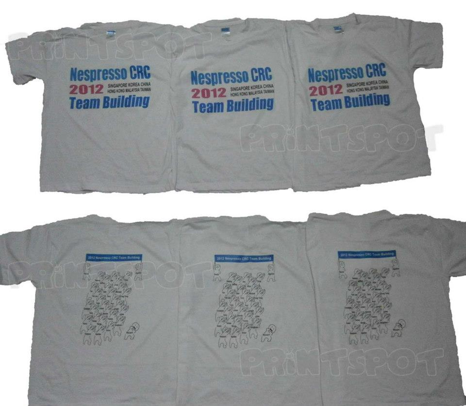 Nespresso Team Building Tees Print Spot Personalised