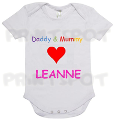 "Daddy & Mummy love ""Baby's Name"" (PS004)"