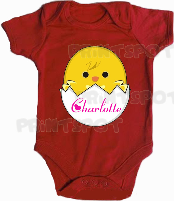 Hatched Chick Design with personalised name! (PS161)