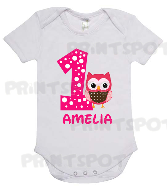 First Birthday Owl Design PSBD023