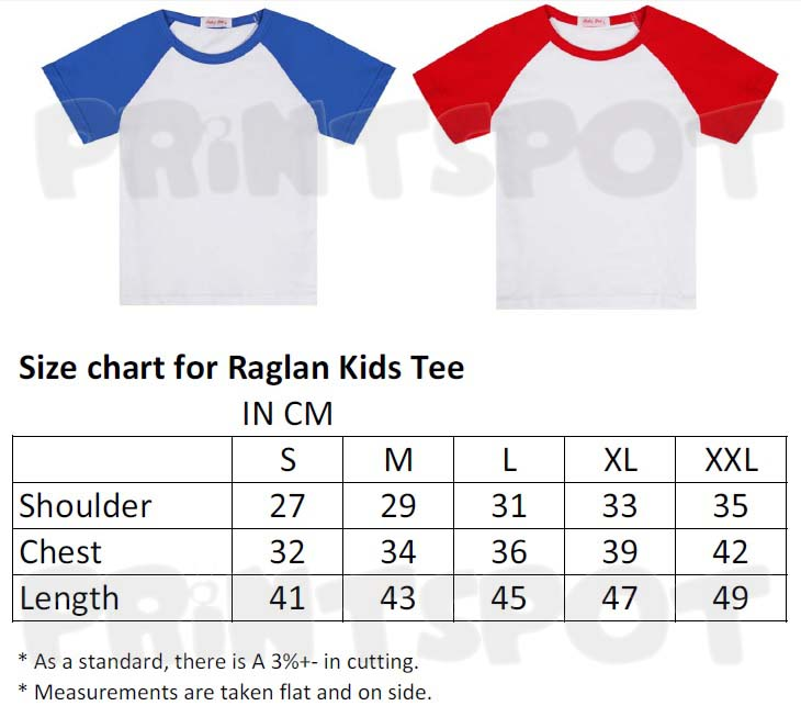 Raglan Kids Cotton Round Neck Tee