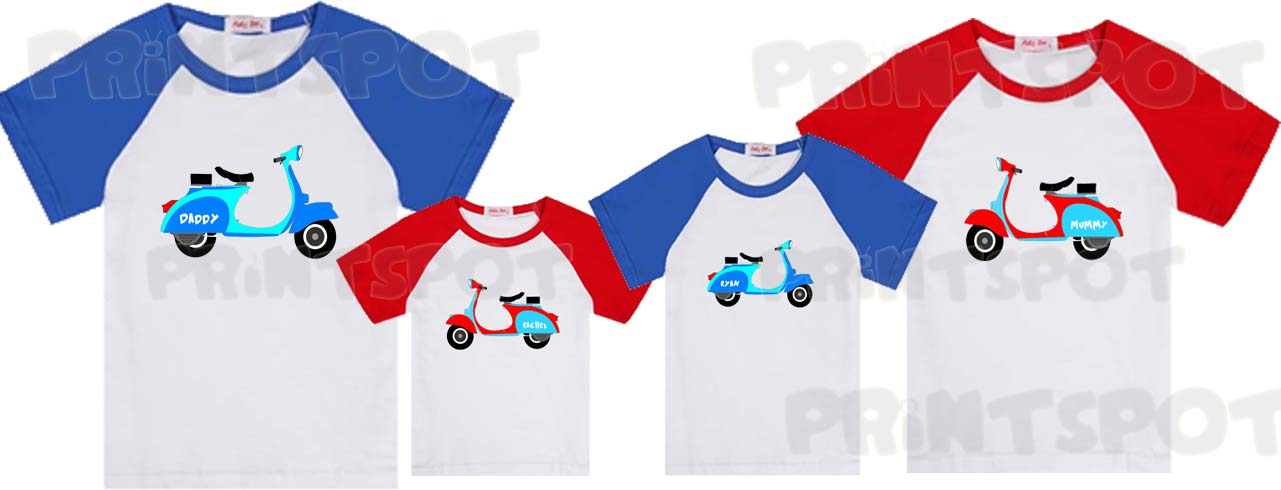 Scooter Raglan Family Tees (PSFT046)